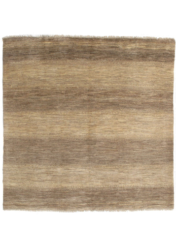 Square Contemporary Minimal Modern South Persian Lori Gabbeh undyed wool area rug