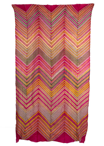 Rajistani Lehriya Wrap cotton cloth woven in strips and sewn together