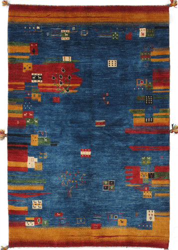 Contemporary Colorful Handwoven South Persian Lori Gabbeh Scatter Rug