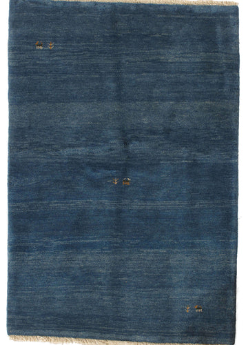 Contemporary Blue South Persian Lori Gabbeh Rug with Minimal design