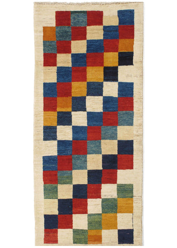 Contemporary Modern Colorful South Persian Lori Gabbeh Runner Rug