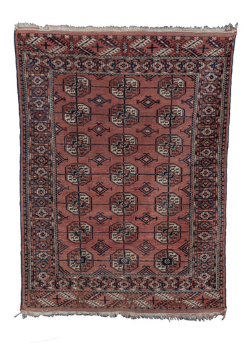 Antique Tekke Turkmen Rug - 3'4 x 4'6