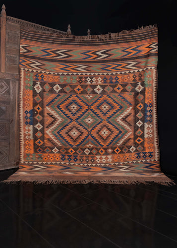 Maimana kilim woven in Afghanistan during the second quarter of the 20th century.