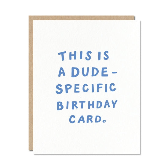 Dude Specific Birthday Card