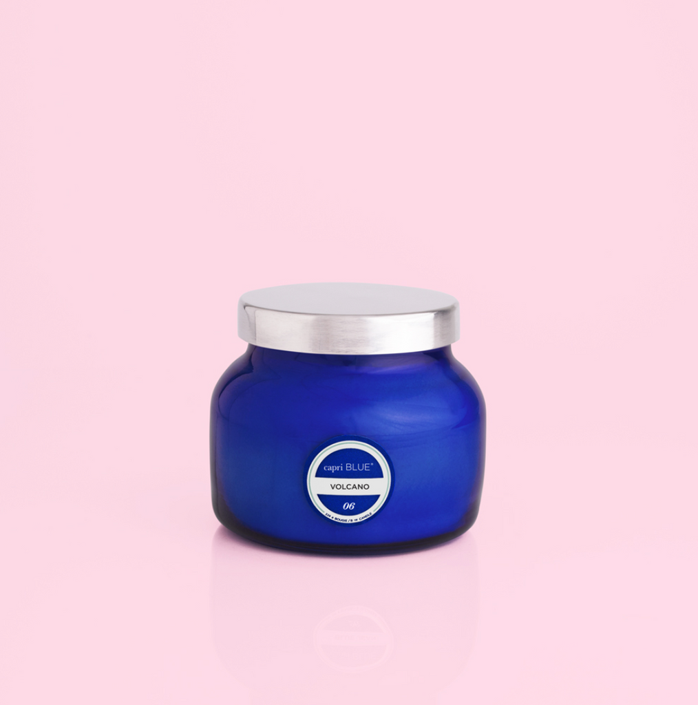 Volcano Candle / Signature Blue Jar