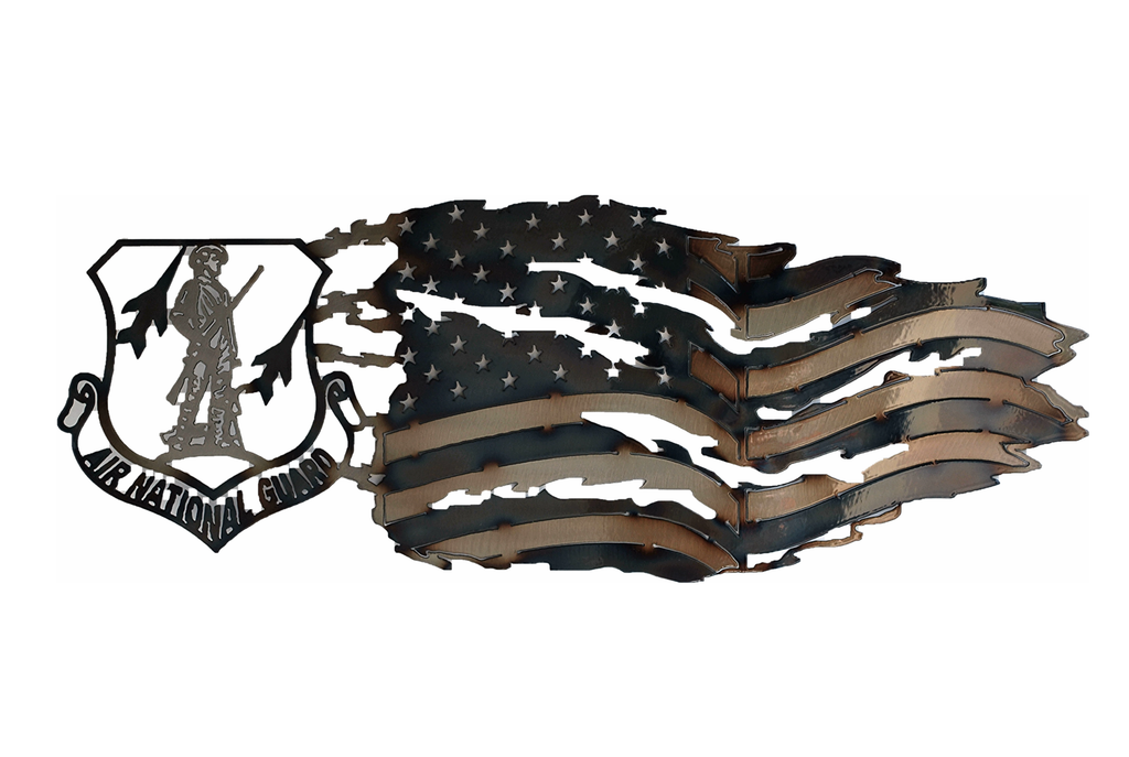 US Air National Guard with Tattered Flag Wall Art