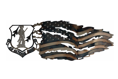Air National Guard Tattered Flag Wall Art