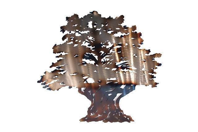 Ancient Olive Tree Metal Wall Art