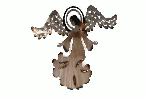 A beautiful metal wall art Angel.