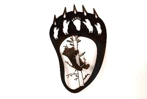 Bear Claw Metal Wall Art