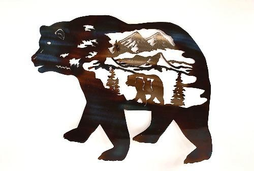 Bear in Bear Metal Wall Art