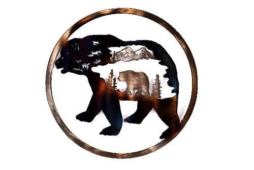 Bear In Bear Circle Art