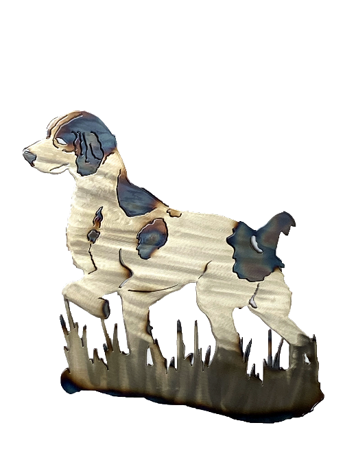 Brittany Spaniel  Metal Wall Art