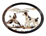 Brittany Spaniel Flushing Pheasant Oval Wall Art