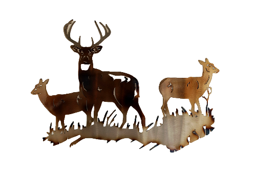 Buck and Doe Wall Art