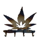 Cannabis Leaf Key Rack
