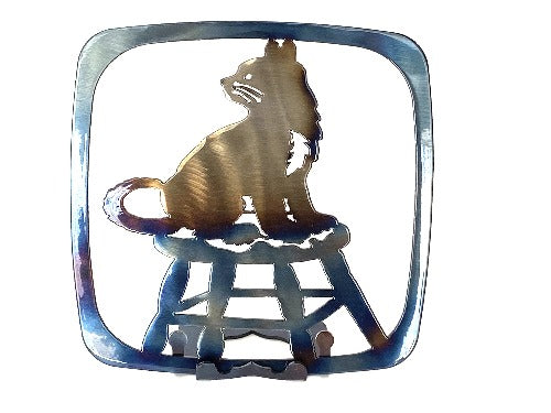 Cat on a Stool Trivet