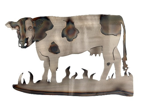 Cow Metal Wall Art