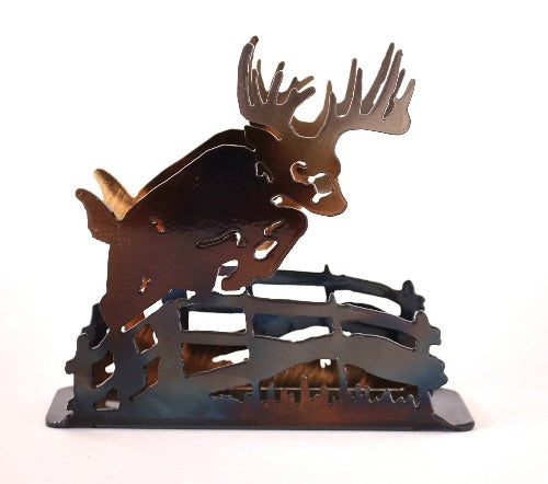 Deer Jumping Fence Large Napkin Holder