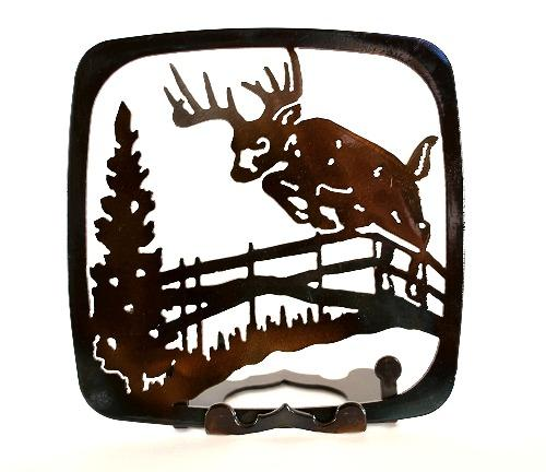 Deer Jumping Fence Trivet