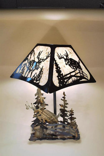 Deer And Fence Lamp