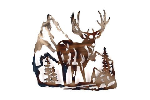 Deer Rocks Wall Art