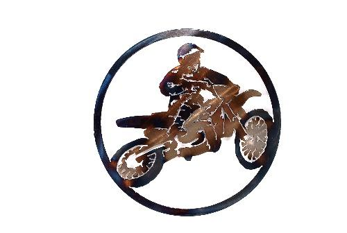 Dirt Bike Circle Art