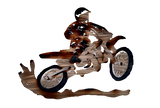 Dirt Bike Metal Wall Art