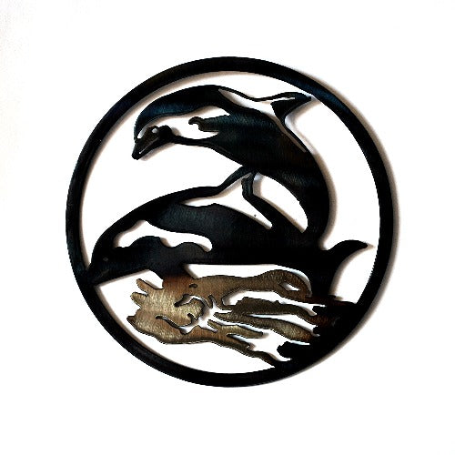 Dolphins Circle Art