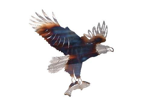 Eagle Carrying a Fish Metal Wall Art