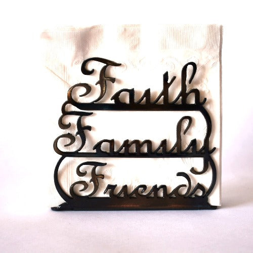 Faith Family Friends Large Napkin Holder