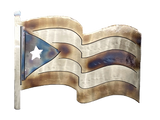 Puerto Rico Flag Large Metal Wall Art