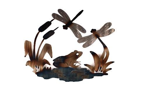 Frog and Dragonflies Wall Art