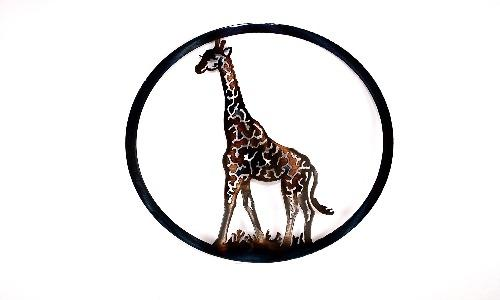 Giraffe Circle Art