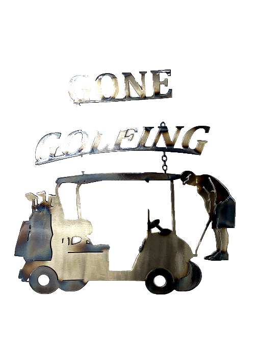 Gone Golfing  Metal Wall Art