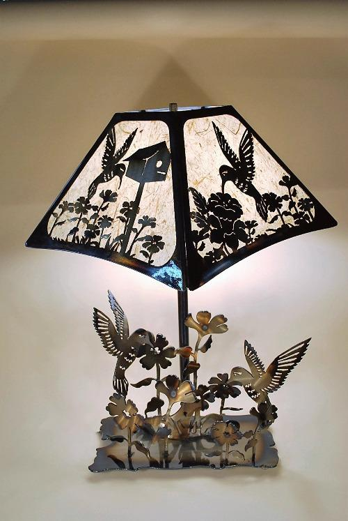 Hummingbird Table Lamp Large