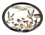 Hummingbirds Oval Wall Art
