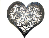 Heart With Roses Wall Art- Single Layer