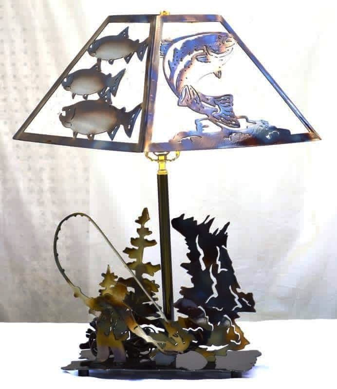 Fisherman table lamp metalcraft design fisherman table lamp aloadofball Gallery