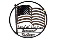 Land of the Free - Flag with Motto Wall Art
