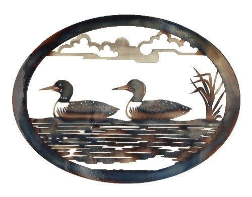 Loons Oval Wall Art