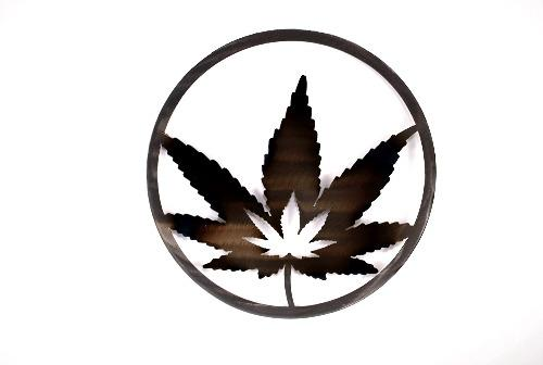 Cannabis Leaf Circle Art
