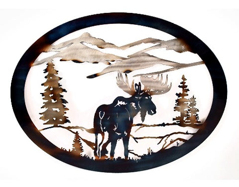Moose Oval Wall Art