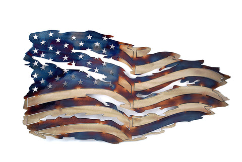 Tattered Flag Wall Art 21""