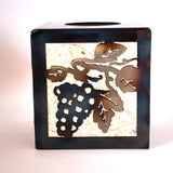 Wine and grapes tissue box holder