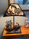 Shell Back Sea Turtle Lamp Medium