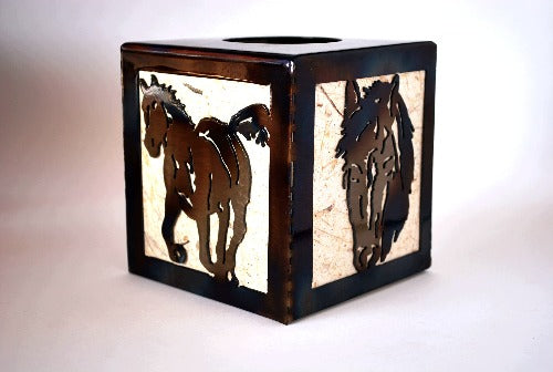 Horses Tissue Box Holder