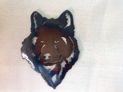 Wolf Head Magnet