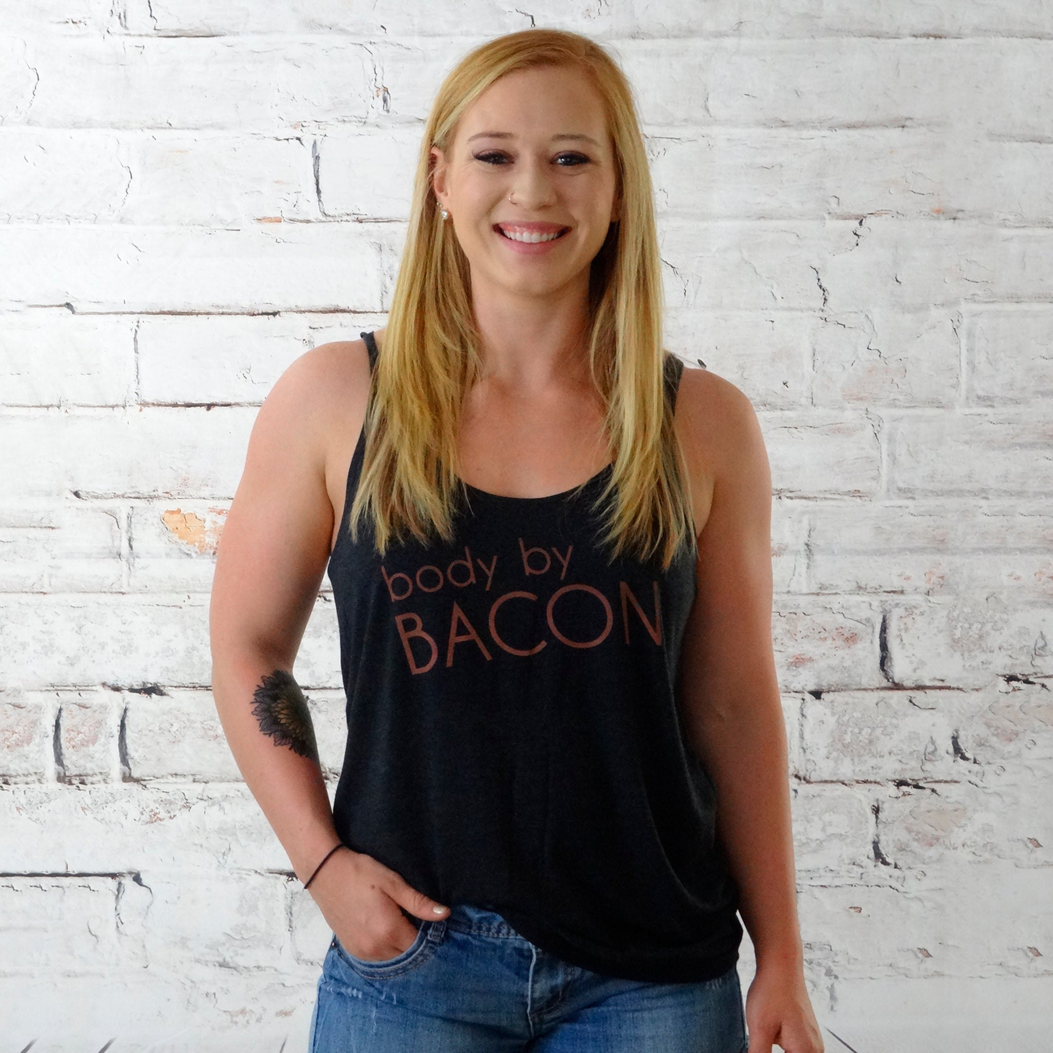 Body By Bacon {Ladies Tank Top}