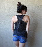Top knot double shot kind of day {Tank Top}
